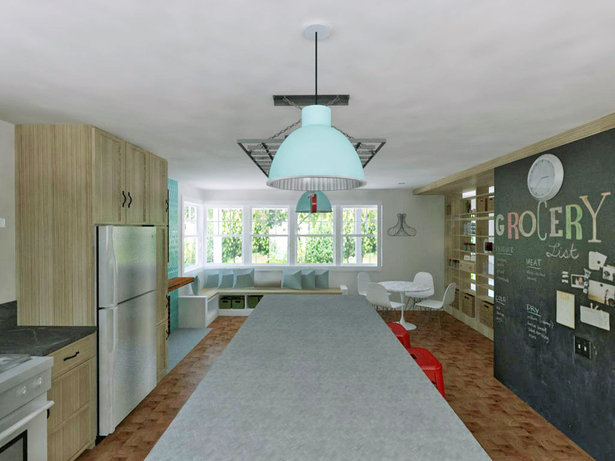Kitchen/dining room interior rendering