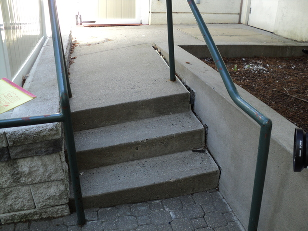 Access stairs before work