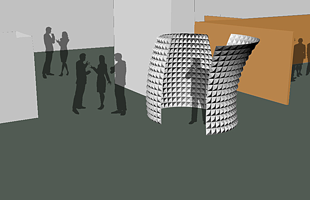 Rendering of one of the final booth designs