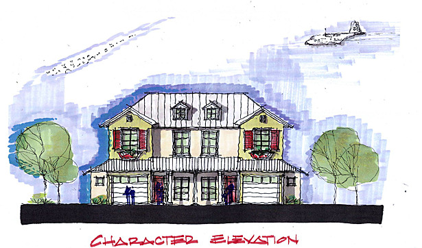 Early conceptual sketch - duplex