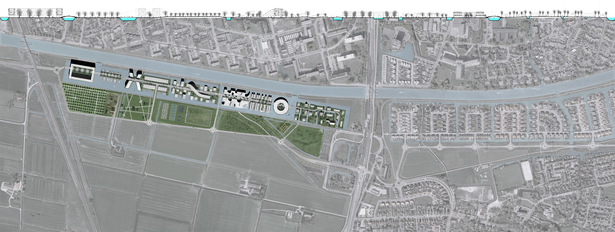 Site Section and Plan Rendering