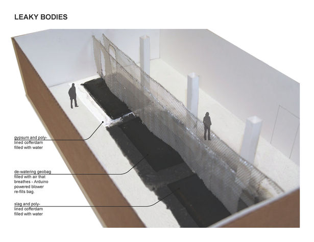I assisted in producing diagrammatic models of various ideas for the final installation piece. -Leaky Bodies model