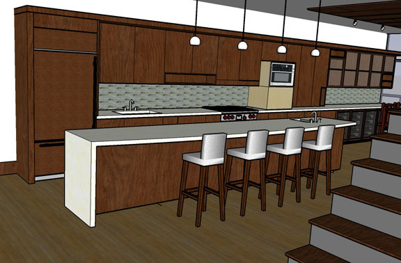SD rendering of kitchen