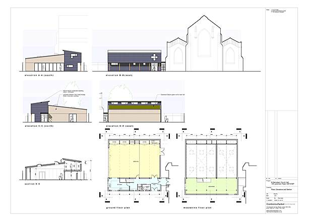 Plans, elevations & sections
