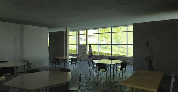 View from Inside Modular Classroom