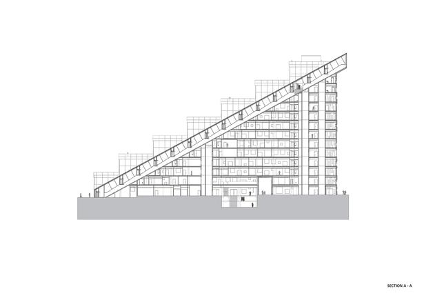 Section A-A. Copyright © Dark Arkitekter