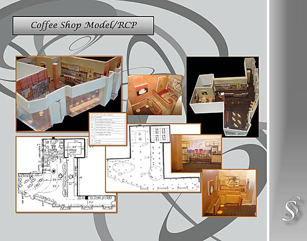 Coffee Shop, Space Planning, Model, RCP.