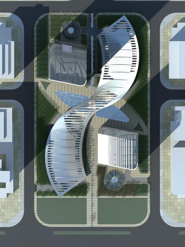Greenland Yinchuan Super Tall Project, site plan by John Portman & Associates