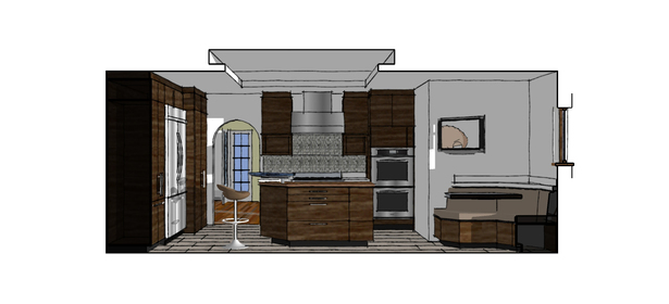 Proposed Kitchen South Perspective Vignette
