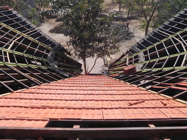 Dormitories roof - under construction