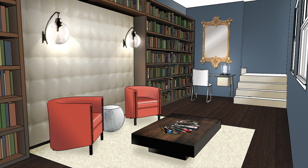 Library rendering.