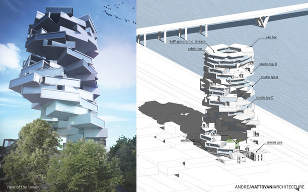 View of the tower and function concept