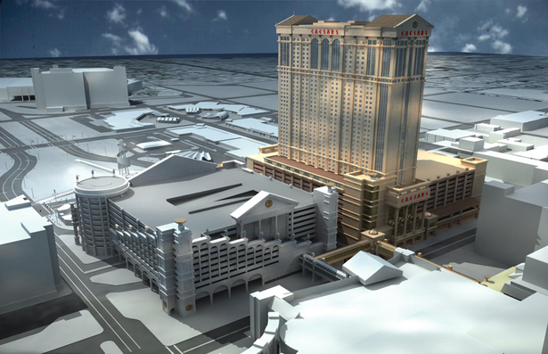 Caesars Transportation Center - Hotel Tower not built SW view.