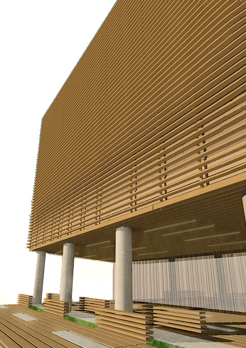 Rendering of Exterior Facade