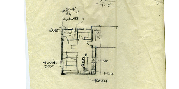 Guest House Plan Sketch
