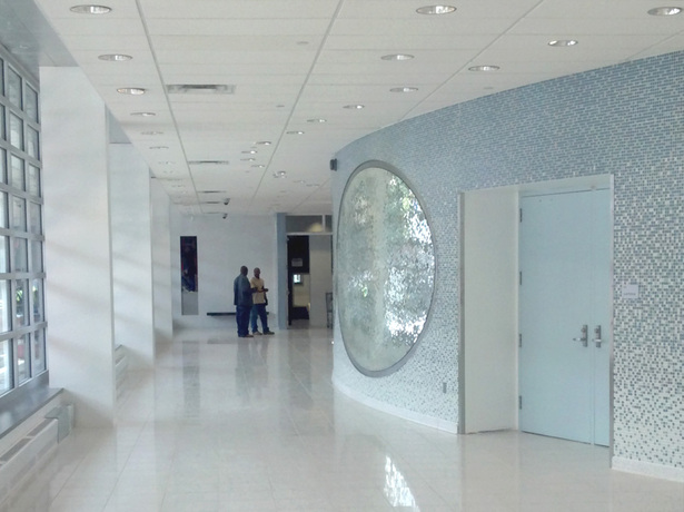 View of Upper Level Lobby outside Auditorium