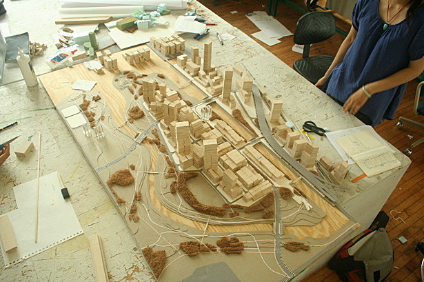 Scaled Model Area: 125 hectare (308 acre)