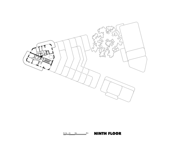 Claus en Kaan Architecten / Ninth Floor plan