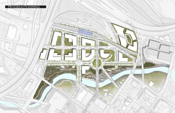 Hines Competition Site Plan, January, 2012