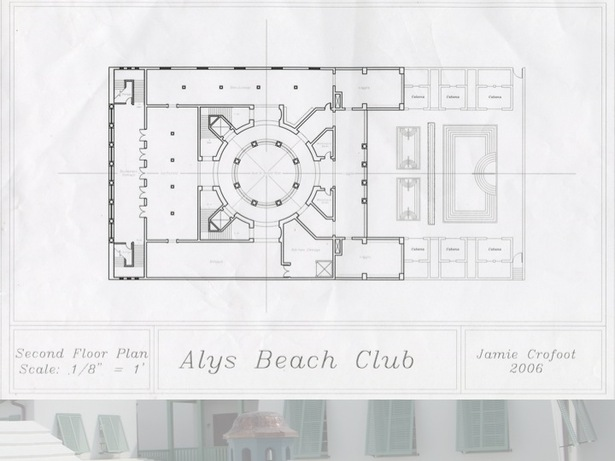 2nd Floor Plan of the Beach Club