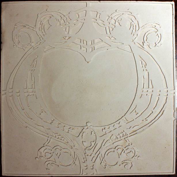 tile in plaster cast