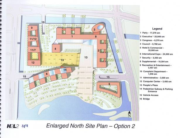 Site Plan, New buildings