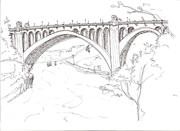 Monroe Street Bridge, Kirtland Cutter design