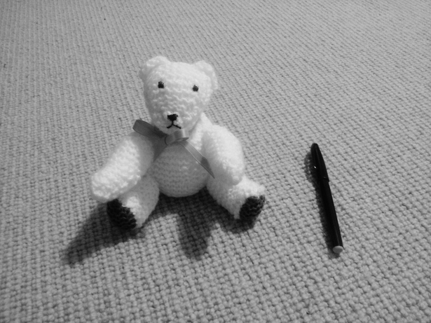 TINY Knitted Bear