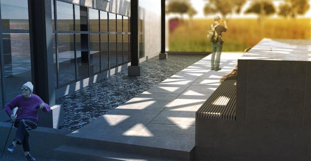 Oasis Courtyard reflecting pool