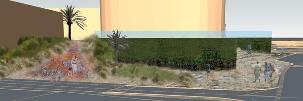 Marine Plaza Mixed Use Landscape Sketch