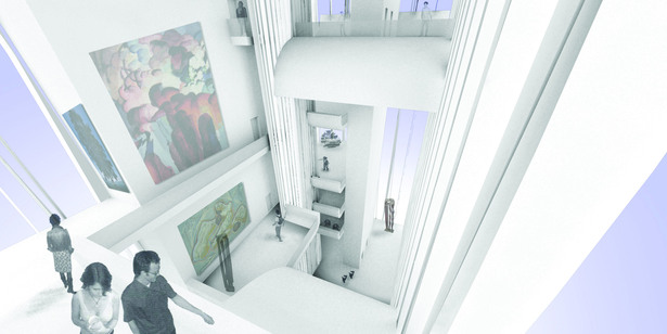 Interior Render_Lightwell museum