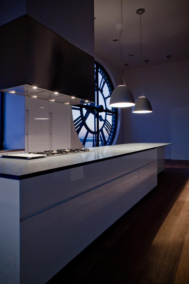 GLAM Kitchen - countertop in grey 45-degree edged Pietra Cardosa Italian stone