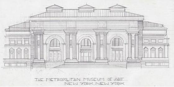 The Metropolitan Museum of Art, graphite on paper, 11