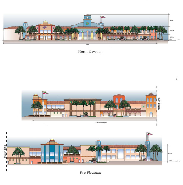 Cabo Paradise Condominium - North & East Elevations