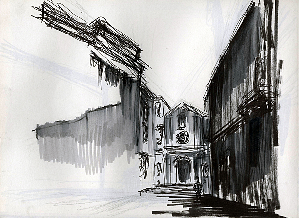 Rome Italy (ink)