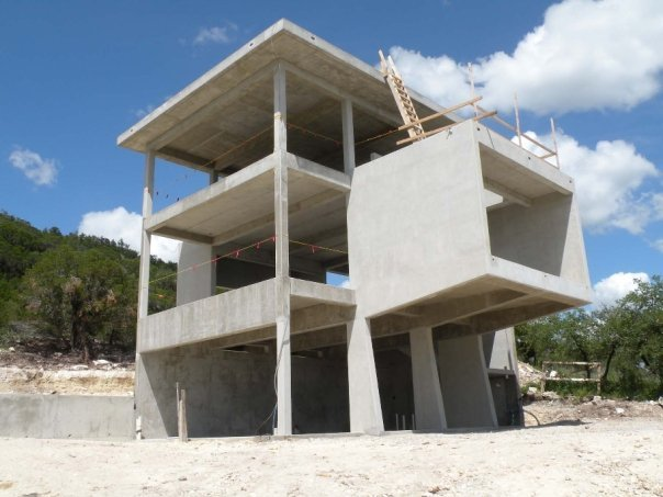 Poured-in-place concrete structure