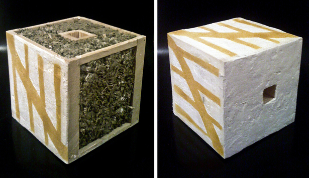hempcrete and timber scuplture