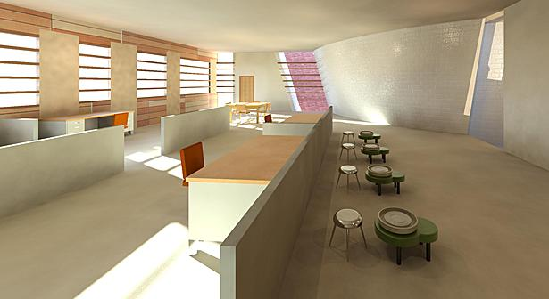 Studio interior rendering