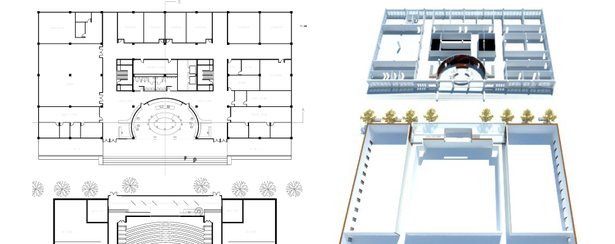 ground floor plan + axonometric (AutoCAD, SketchUp)