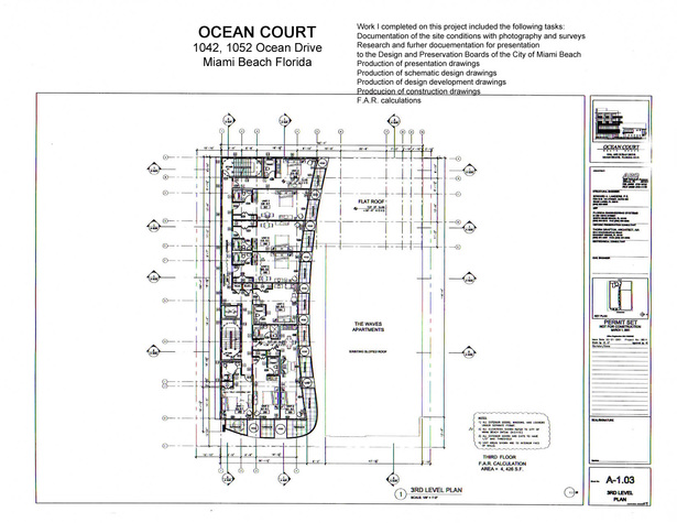 Ocean Court-third floor plan