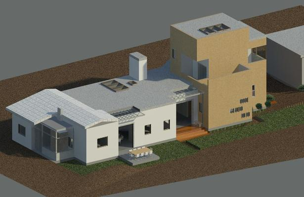 Rendering of exterior finishes