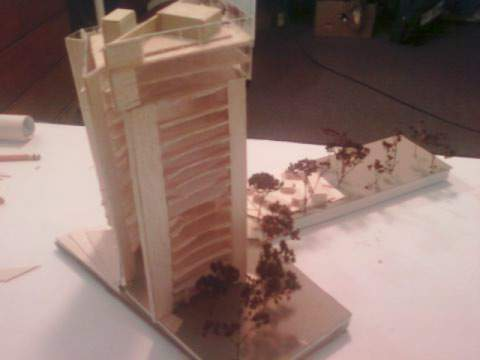studio-building/ plot design downtown hartford, ct, model