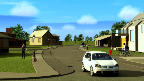 Day Render Streets U.Development (FProject Civil Engineering)