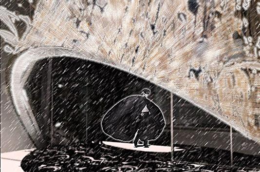 Sgambati_Alexander McQueen studio h.q._seasonal study winter_facade rendering/montage