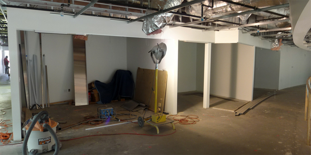 Second Floor Finance and Insurance Waiting Area Under Construction