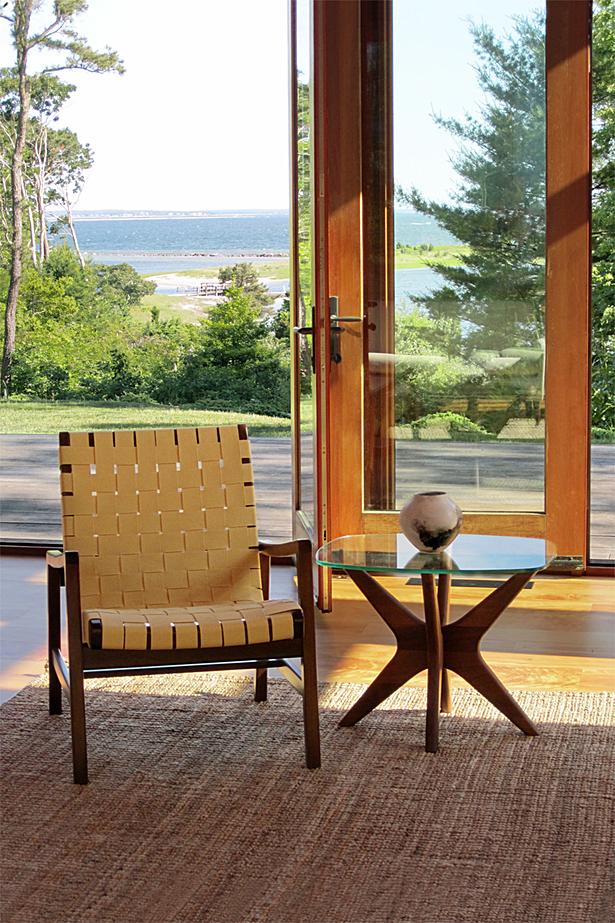 living room and bay beyond