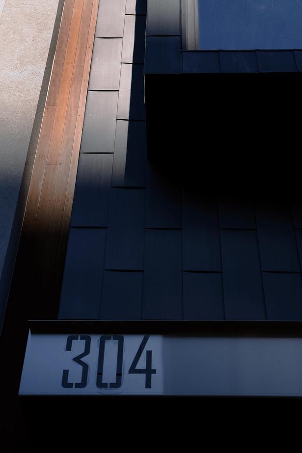 zinc cladding + signage