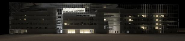 Building Night Time Elevation