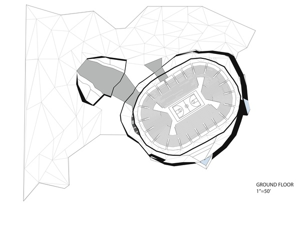 Floor plan-stadium (ground level)