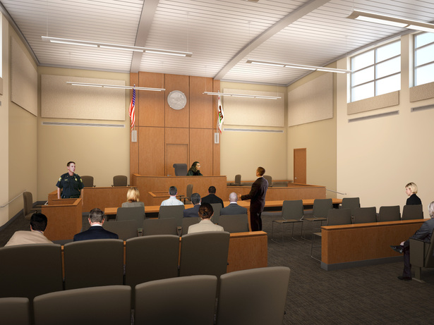 Courtroom interior